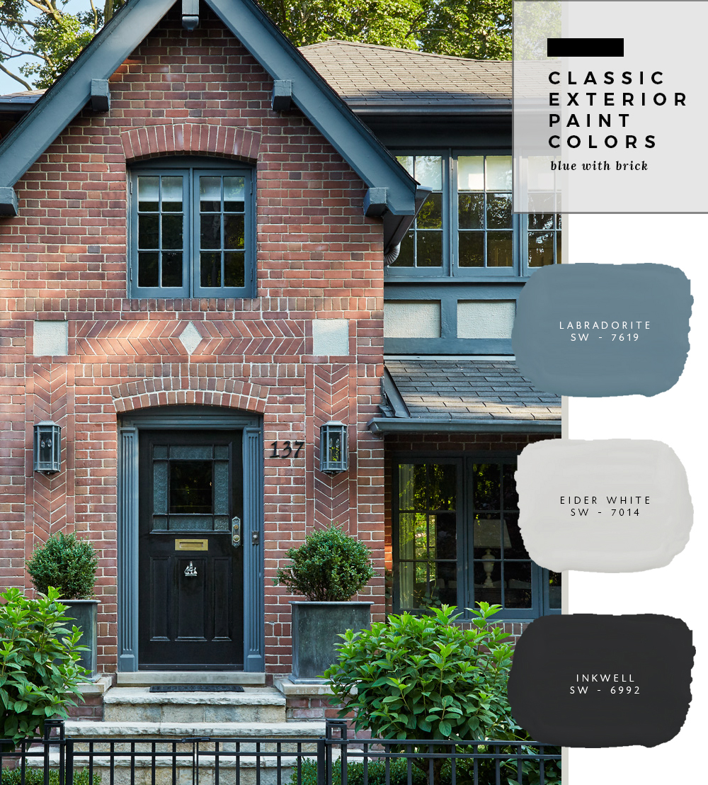 classic exterior paint colors blue with brick room for tuesday. Black Bedroom Furniture Sets. Home Design Ideas