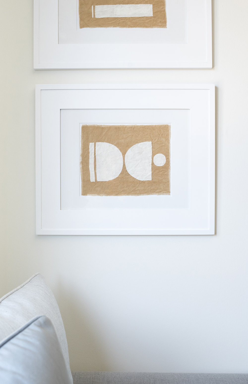 Textile Graphic Art DIY - roomfortuesday.com