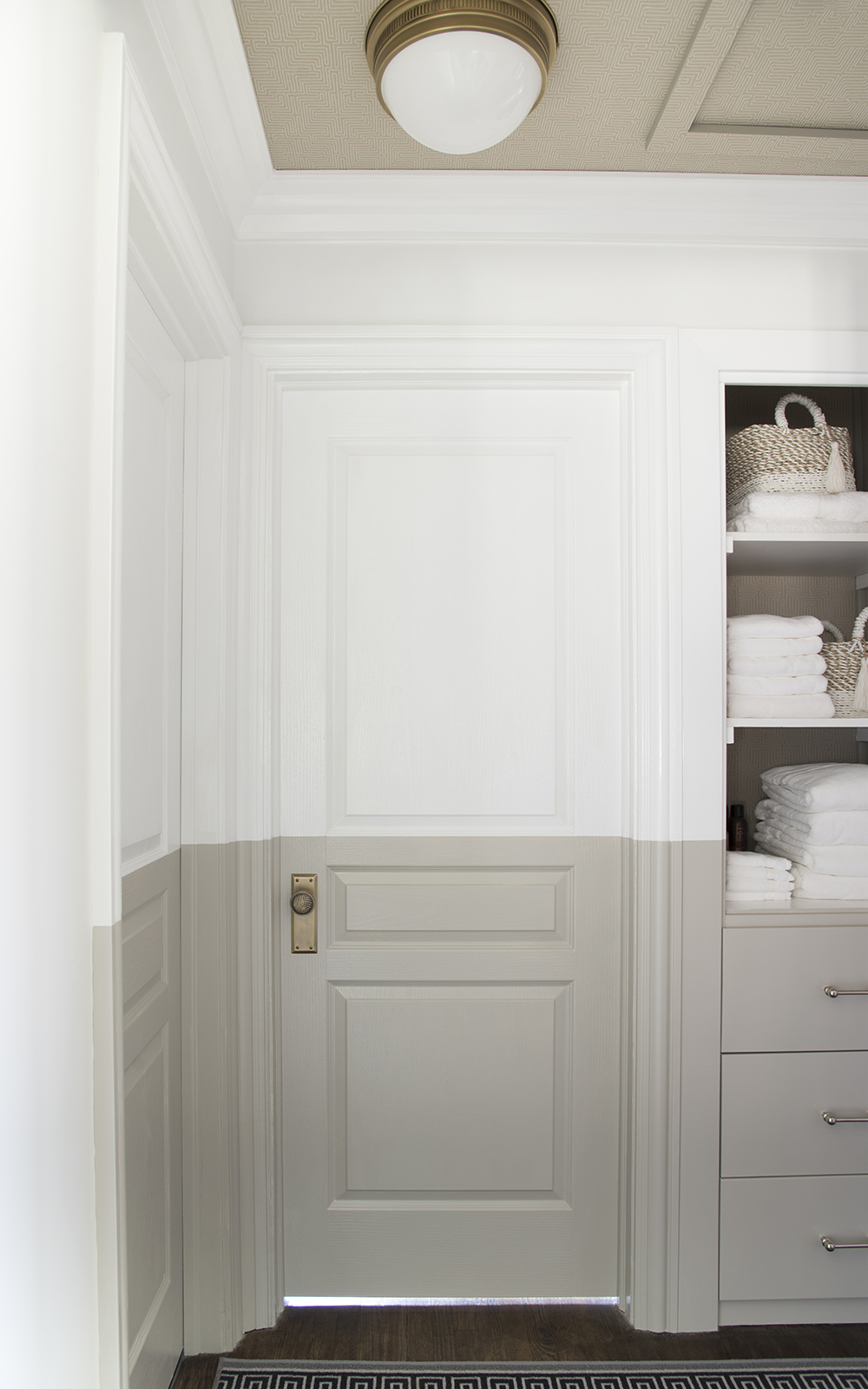 Linen Closet Update & Tips for Choosing The Right Paint - roomfortuesday.com