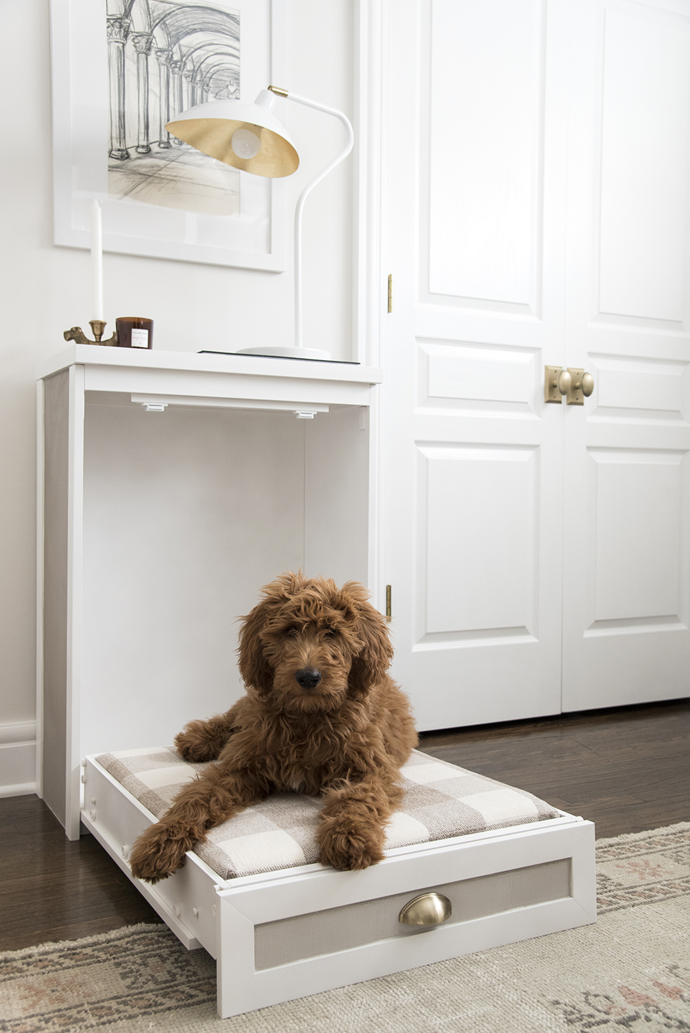 Easy Murphy Dog Bed DIY - Room for Tuesday Blog