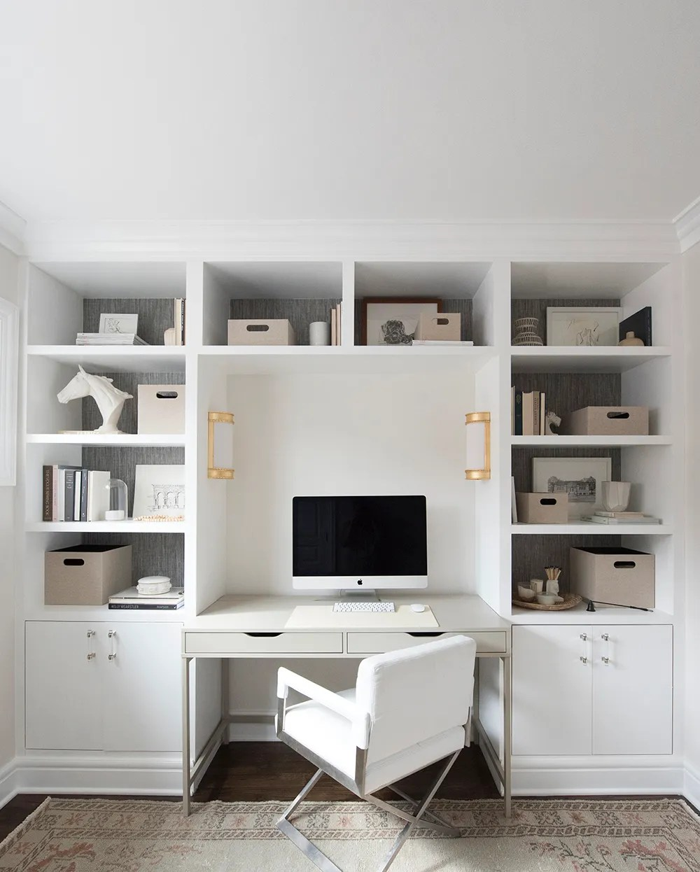 DIY Built-Ins and Office Organization - roomfortuesday.com