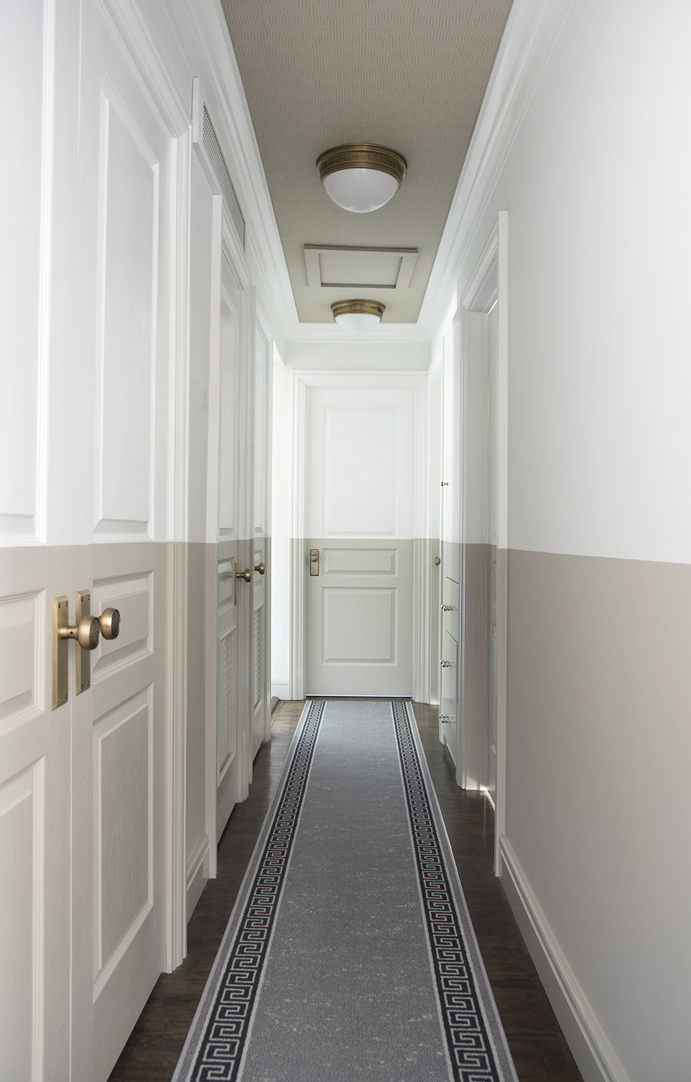 Color Blocked Hallway - roomfortuesday.com