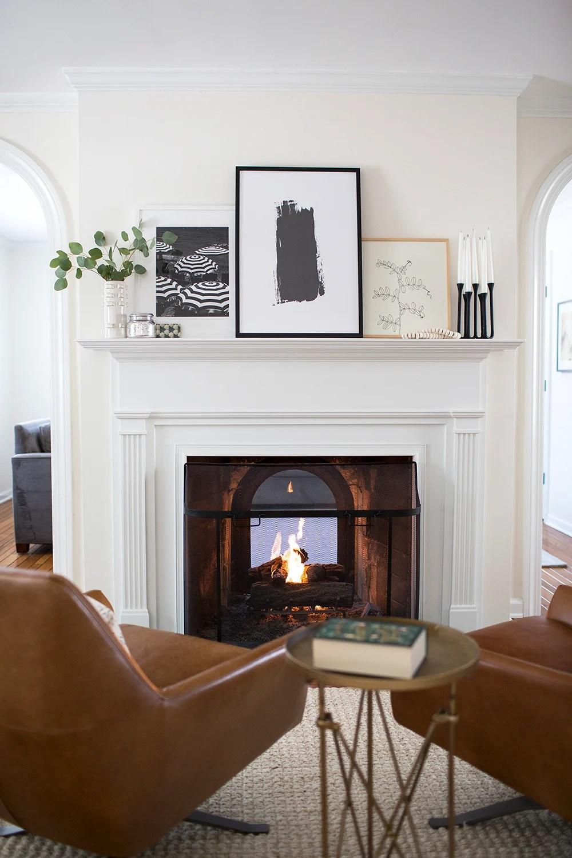 winter blues fireplace