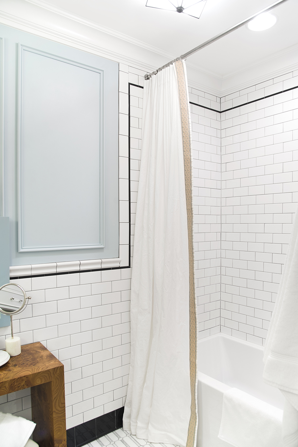 Extra Long Shower Curtain DIY - roomfortuesday.com