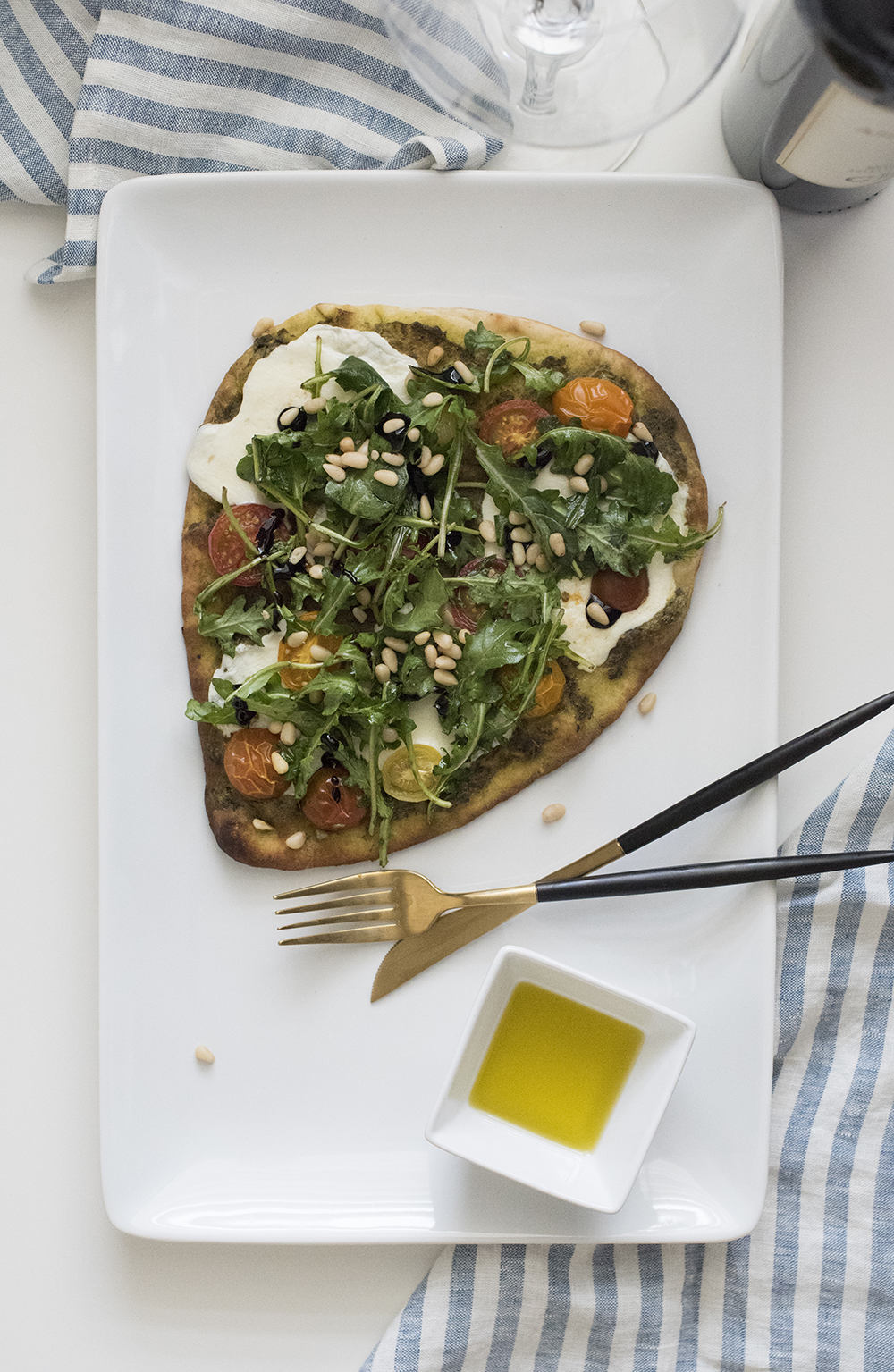 Heirloom Tomato Flatbread - roomfortuesday.com