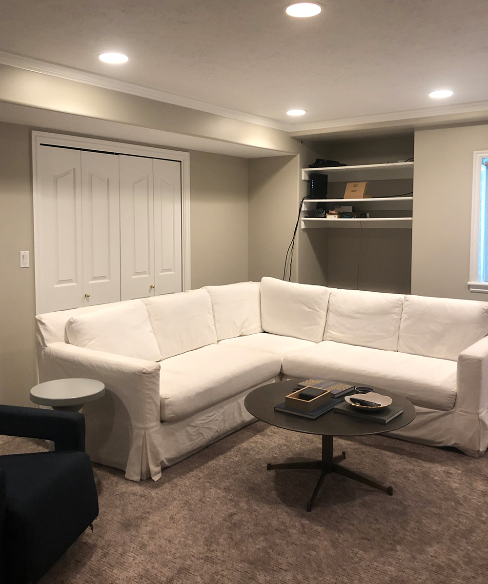 Basement & Media Room Makeover - roomfortuesday.com
