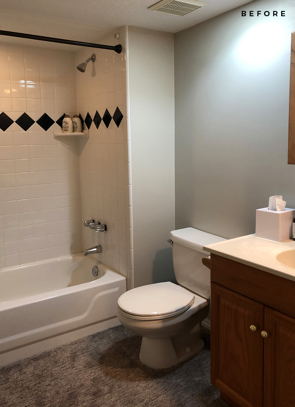 Our Basement Bathroom Design Plan & Before Images - roomfortuesday.com