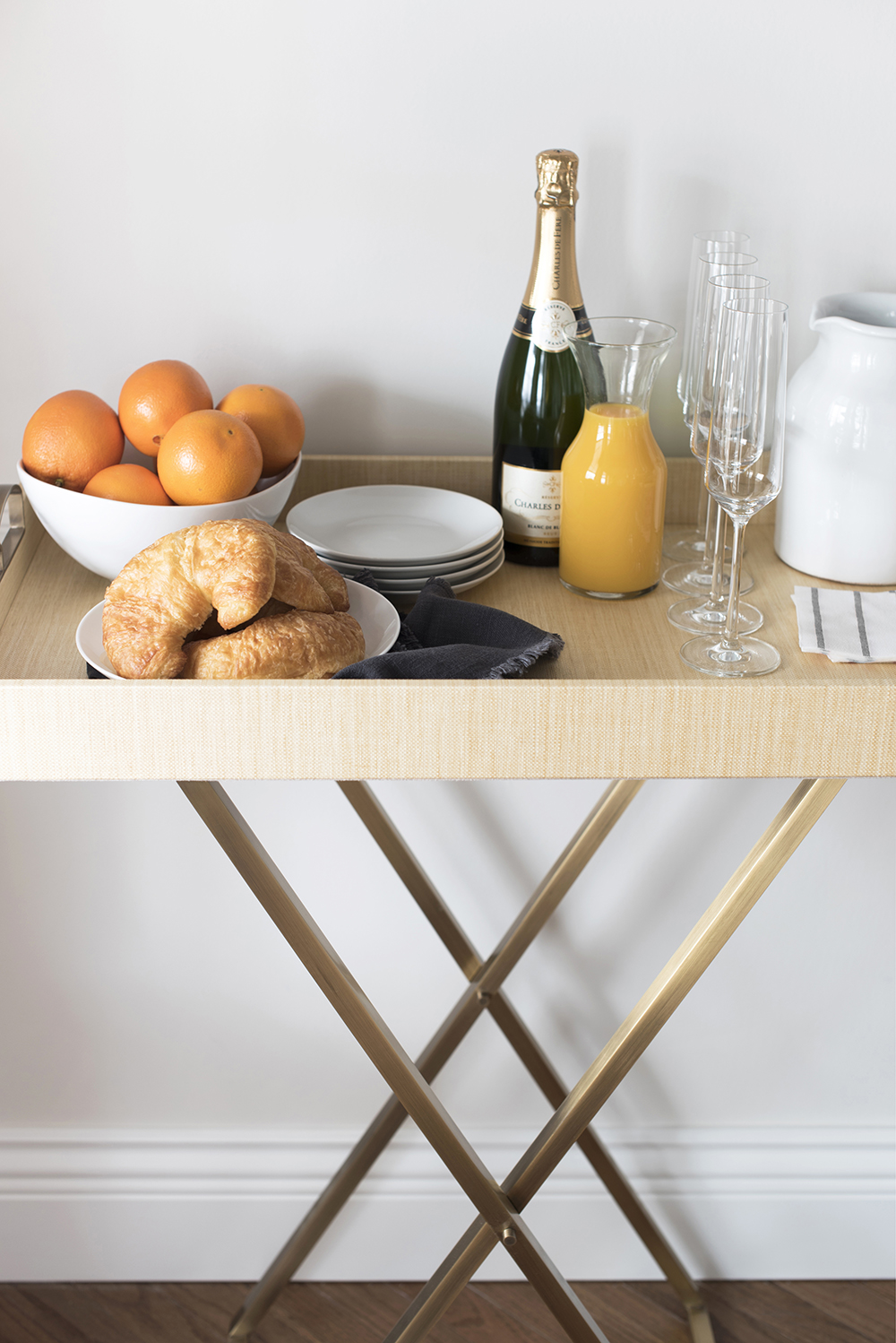 Simple Bar Cart Styling Two Ways : Morning & Night - roomfortuesday.com