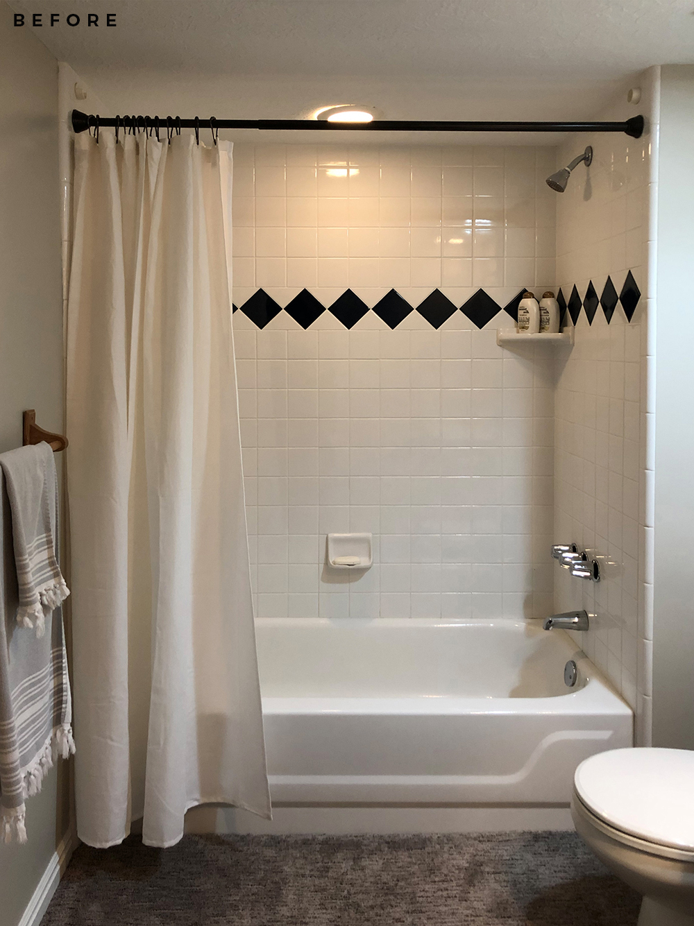 Basement Bathroom Reveal - roomfortuesday.com