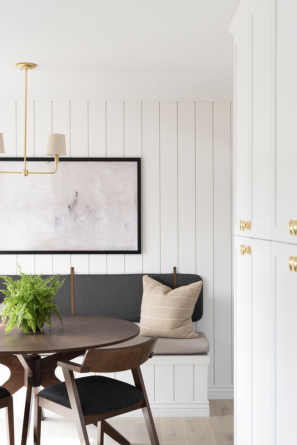 Banquette (or Headboard) DIY Back Cushion - roomfortuesday.com