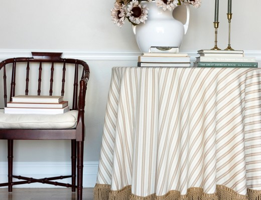 Fringe Tablecloth DIY - roomfortuesday.com