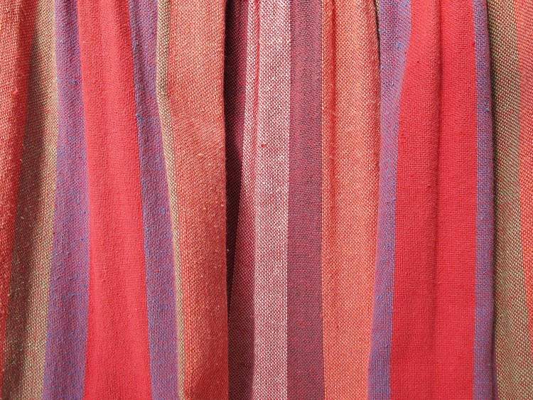 Fabric Curtain with red stripes