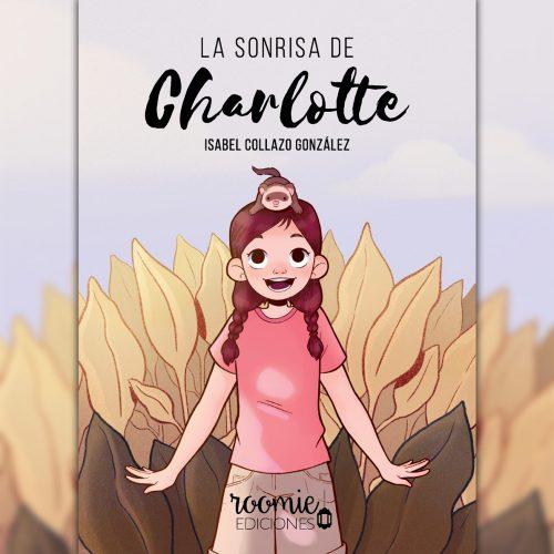 Cubierta: niña sonriente, con un hurón en la cabeza, en un campo de hojas marrones