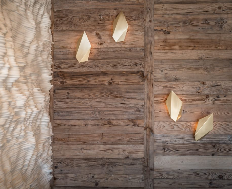 CTO Abstract Sconce Wood Wall