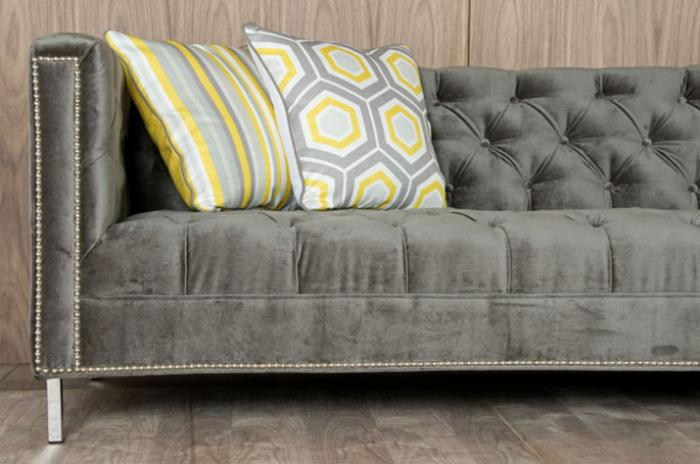 Charcoal Velvet Hollywood Sectional