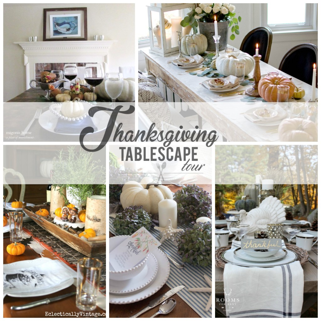 Thanksgiving Tablescape Day 1 Collage