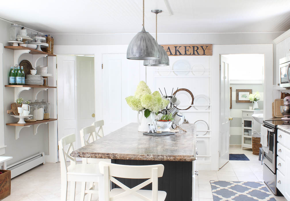 Kitchen Ceiling Wallpaper Reveal | Rooms FOR Rent Blog