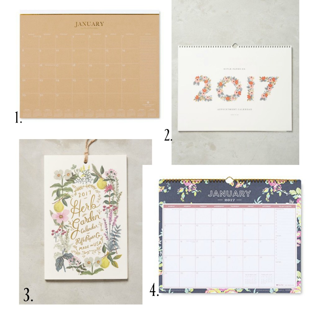 My favorite calendars | Rooms FOR Rent Blog