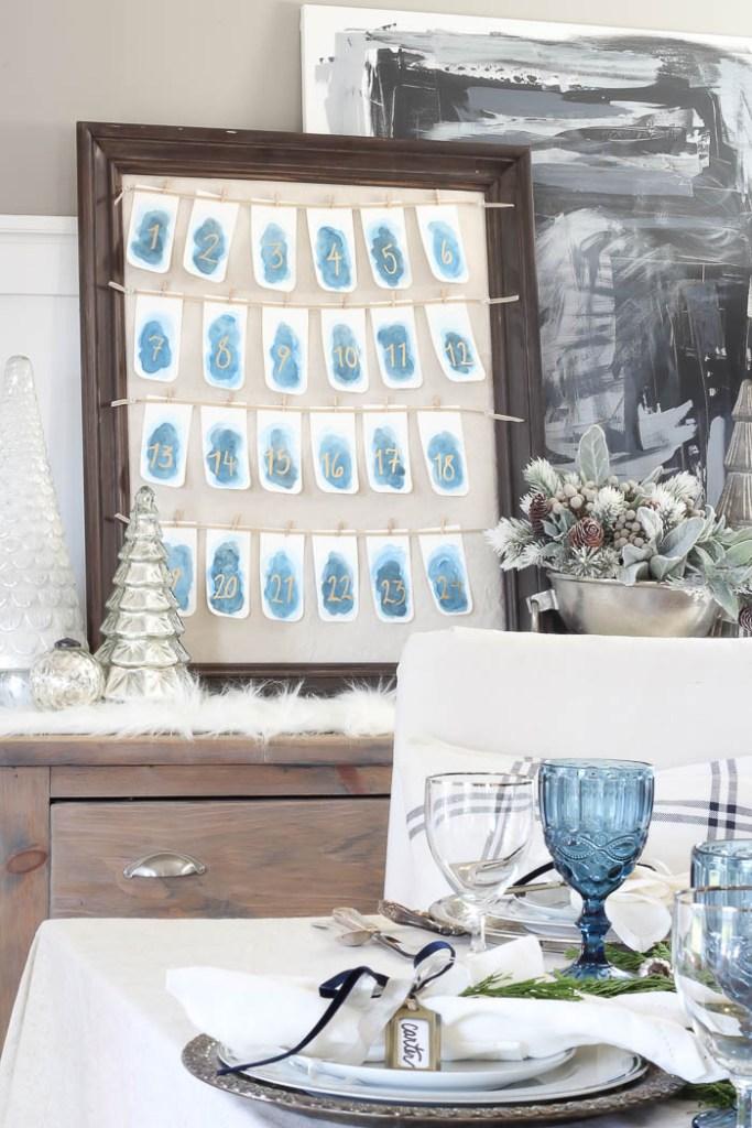 Watercolor Advent Calendar | Rooms FOR Rent Blog