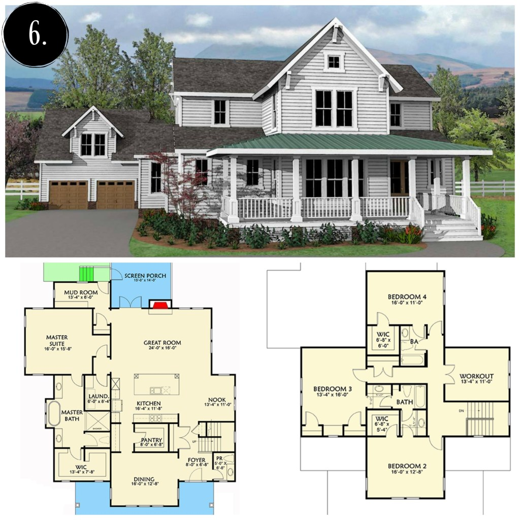 10 modern farmhouse floor plans i love rooms for rent blog for Home plans farmhouse