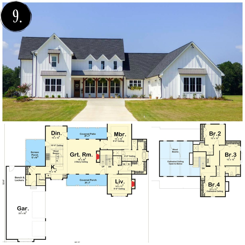 10 modern farmhouse floor plans i love rooms for rent blog for 1 story farmhouse floor plans
