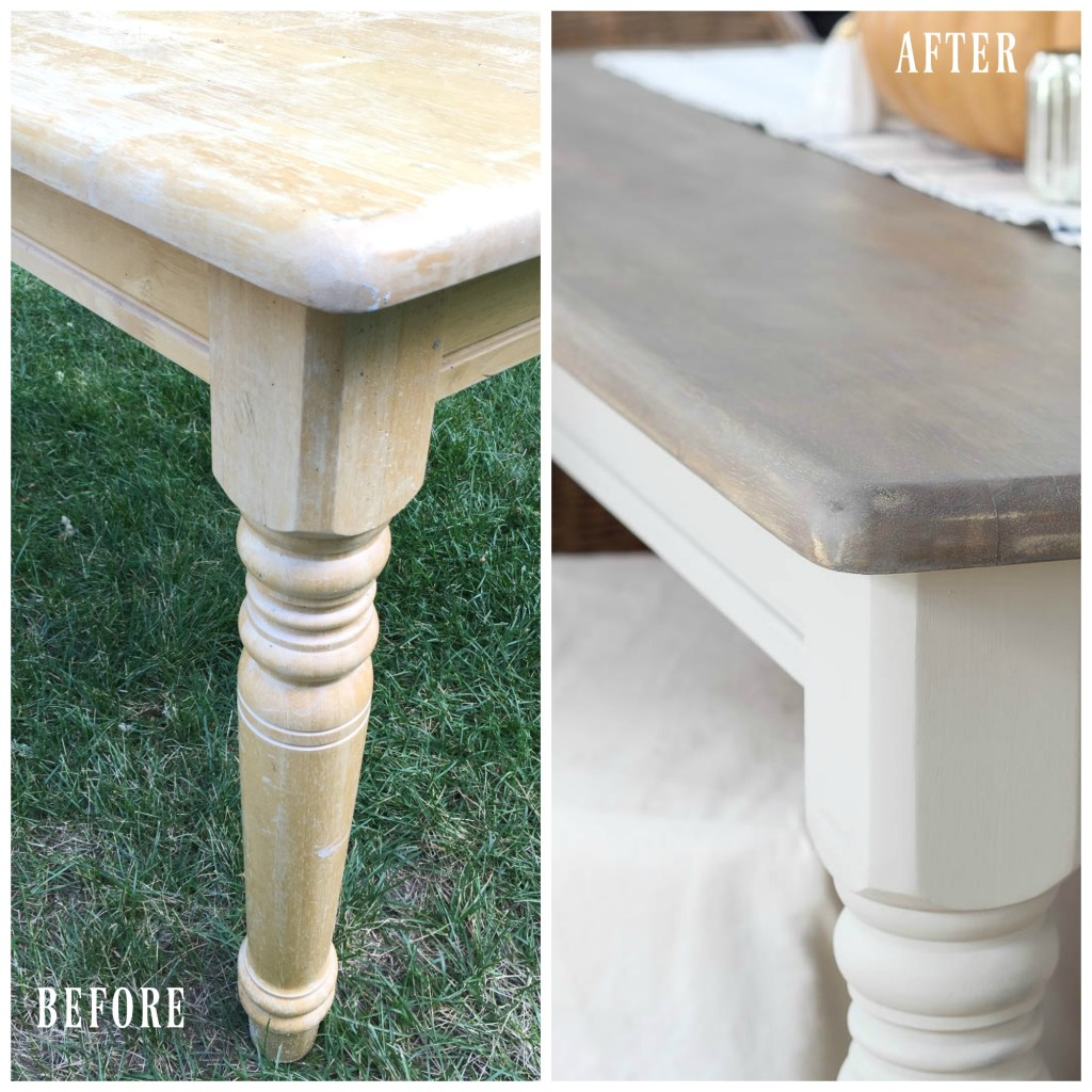 Simple Farmhouse Table Makeover | Rooms FOR Rent Blog