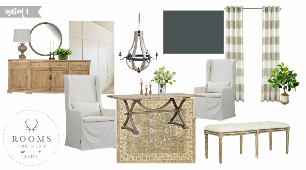 Dining Room Design Board Inspiration | Rooms FOR Rent Blog