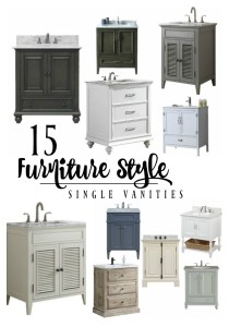 15 Furniture Style Single Vanities