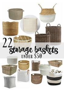 22 Storage Baskets {Under $50}
