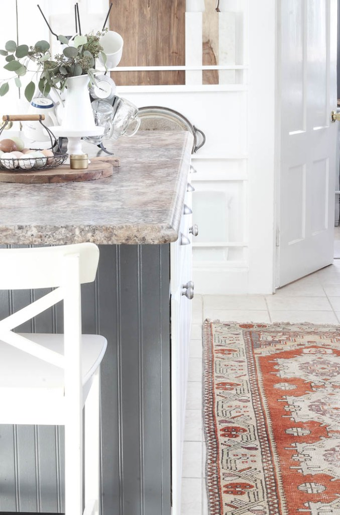 Vintage Rug in the Kitchen | Rooms FOR Rent Blog