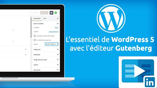 Wordpress, éditeur Gutenberg