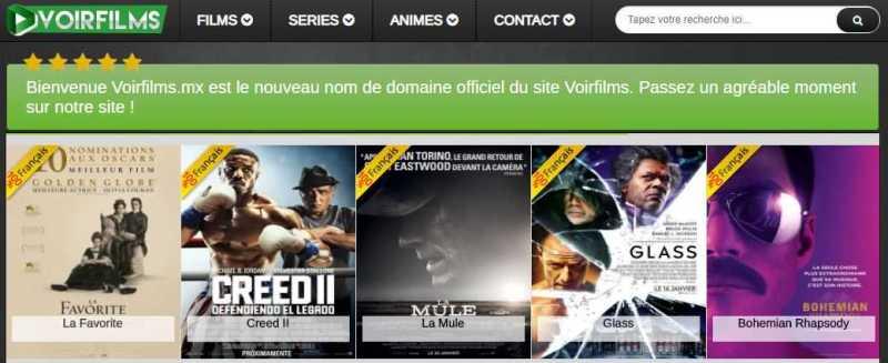 site de streaming - Voirfilms.mx