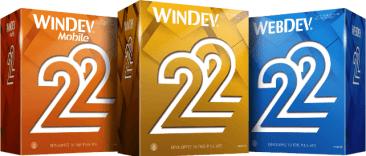 Windev 22, Windev Mobile 22, Webdev 22
