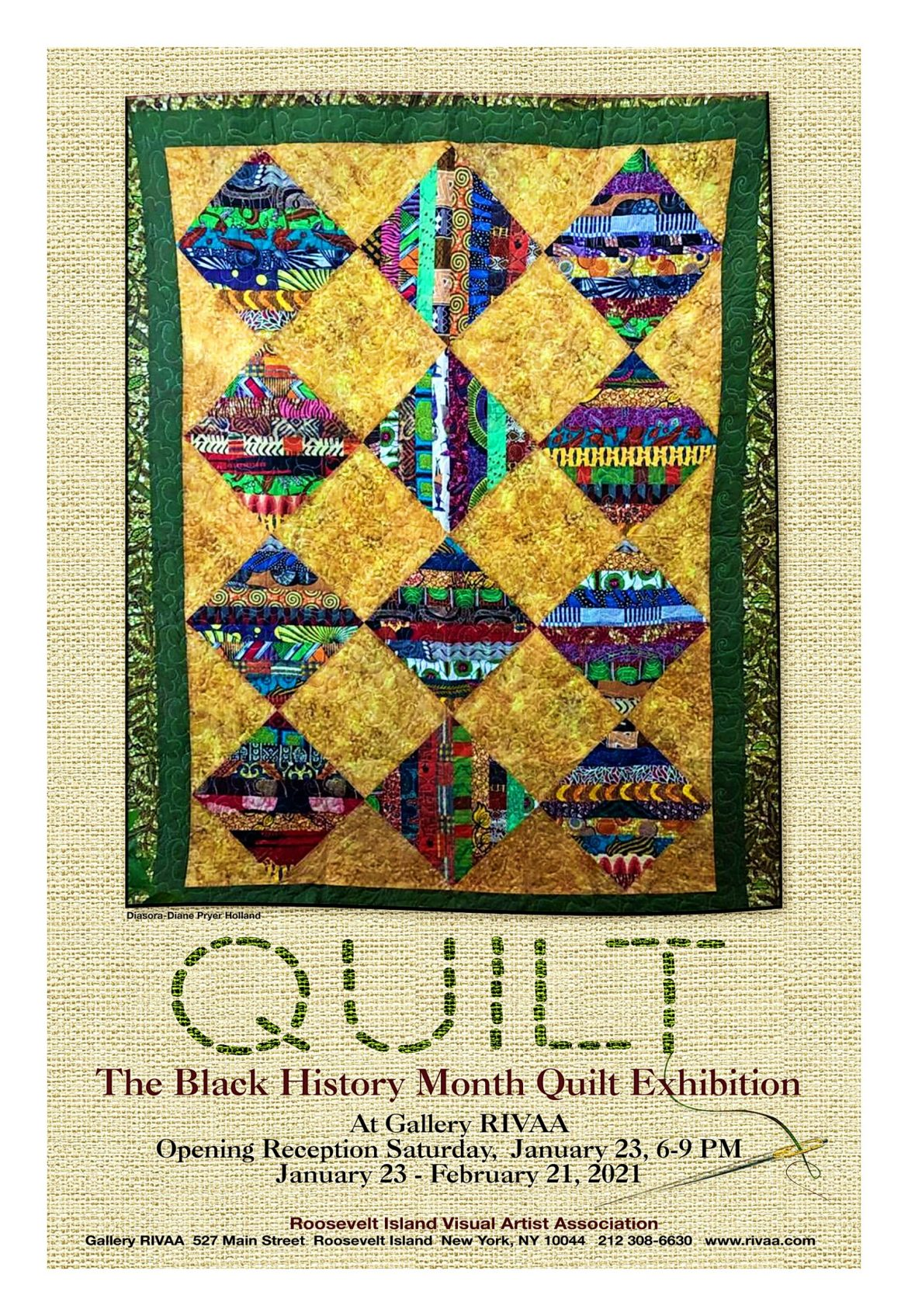 "Black History Month: RIVAA Opens ""Quilt"" Exhibit This Saturday"