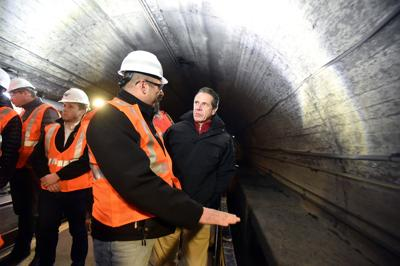 Andrew Cuomo tours Hudson Tunnel