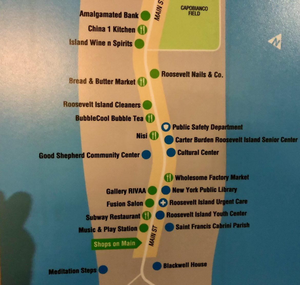 Roosevelt Island Wayfinding Signs, Now Crying Out for An Update