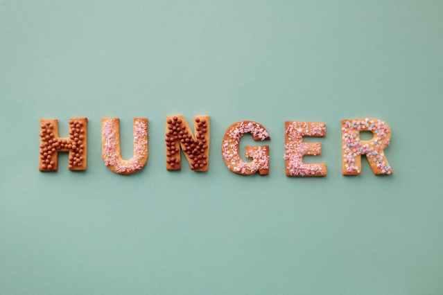 food sign typography calendar
