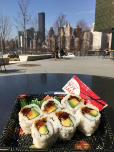 Sushi Thursday at the café @ Cornell Tech