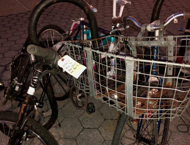 Bike heap at Riverwalk Commons