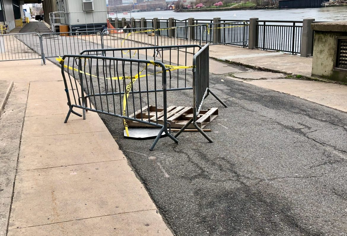 Week 2 for the East Promenade sinkhole, amateur hour and silence
