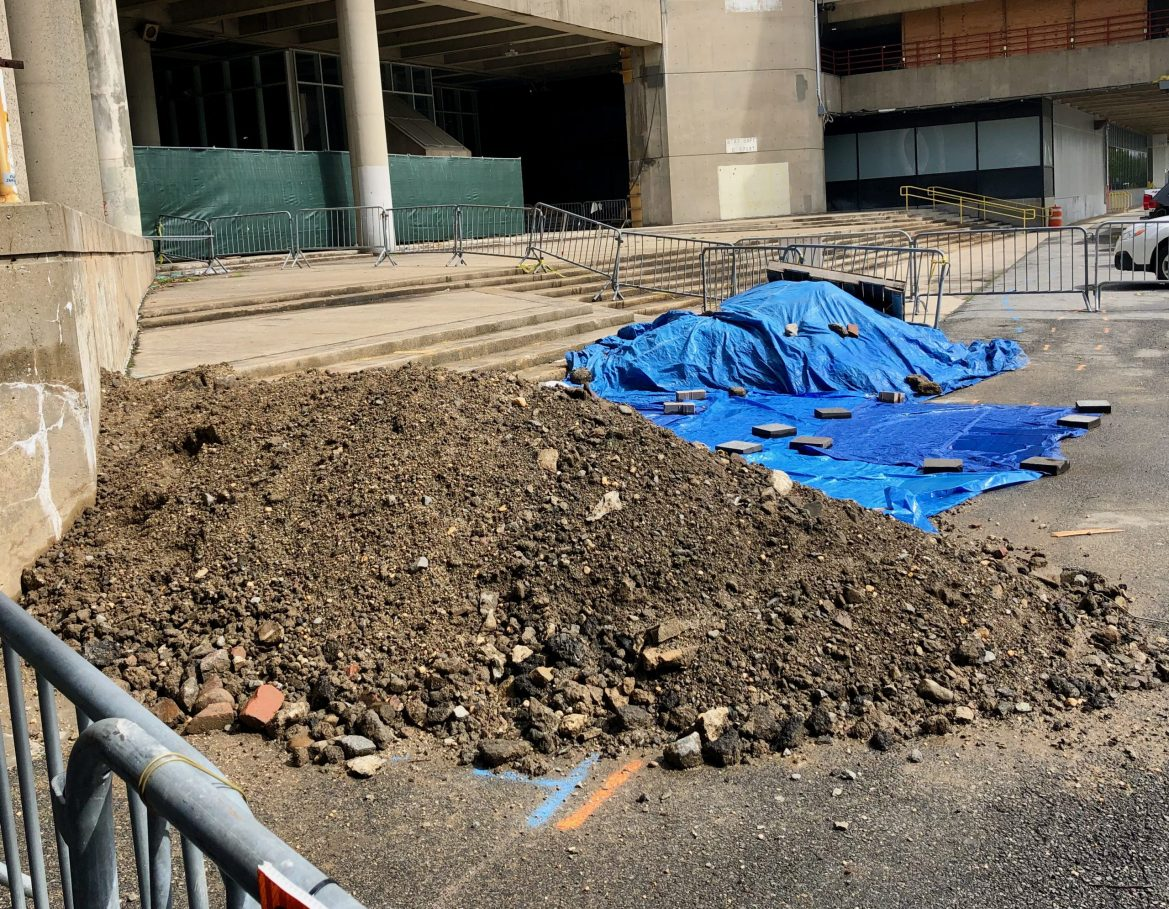 Quick Update: The Mysterious, Small East Promenade Sinkhole Is Now a Pile of Dirt