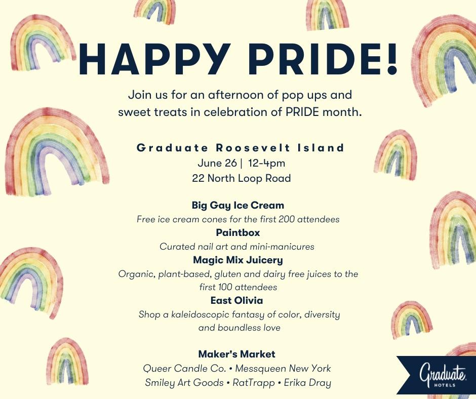 Happy Pride at Roosevelt Island Graduate Hotel