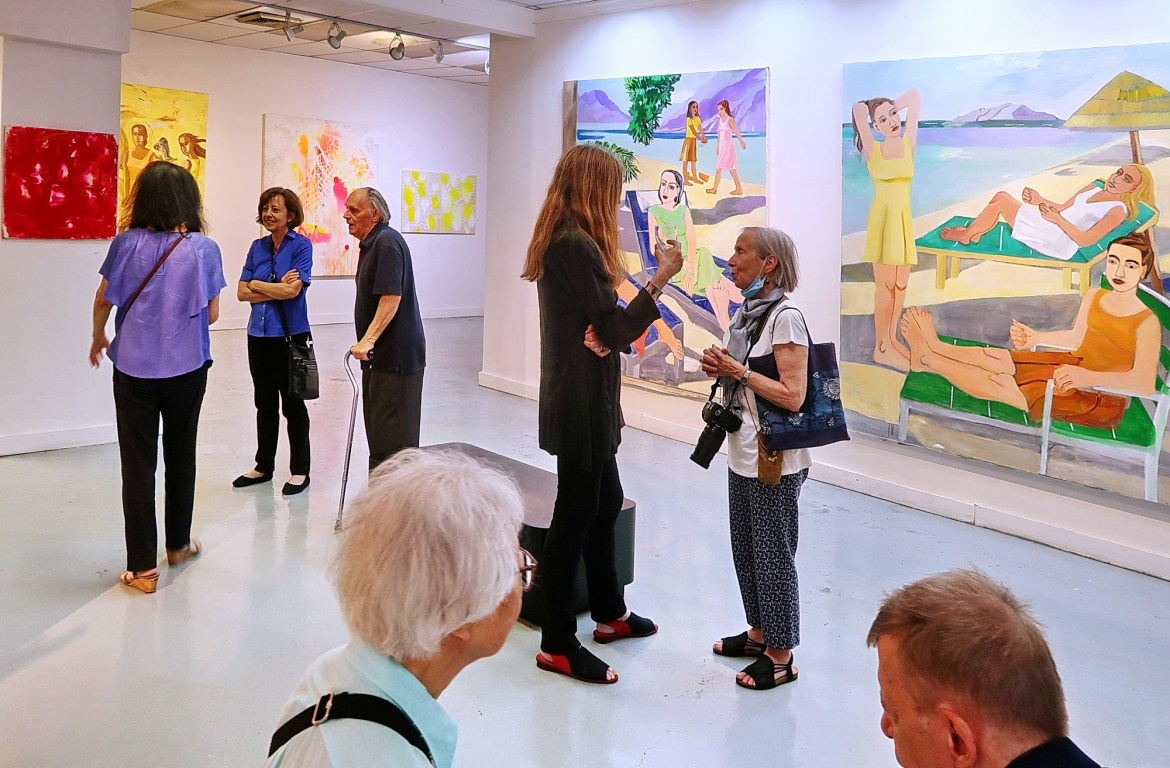 People and Paint: Summer Splash, Scenes from an Opening