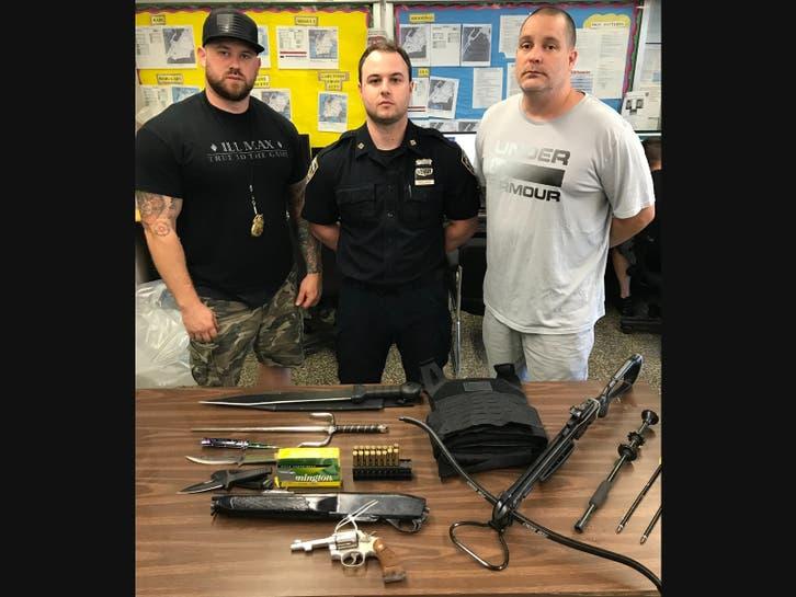 A police raid on Roosevelt Island: a sawed-off rifle, crossbow, samurai sword and ammunition