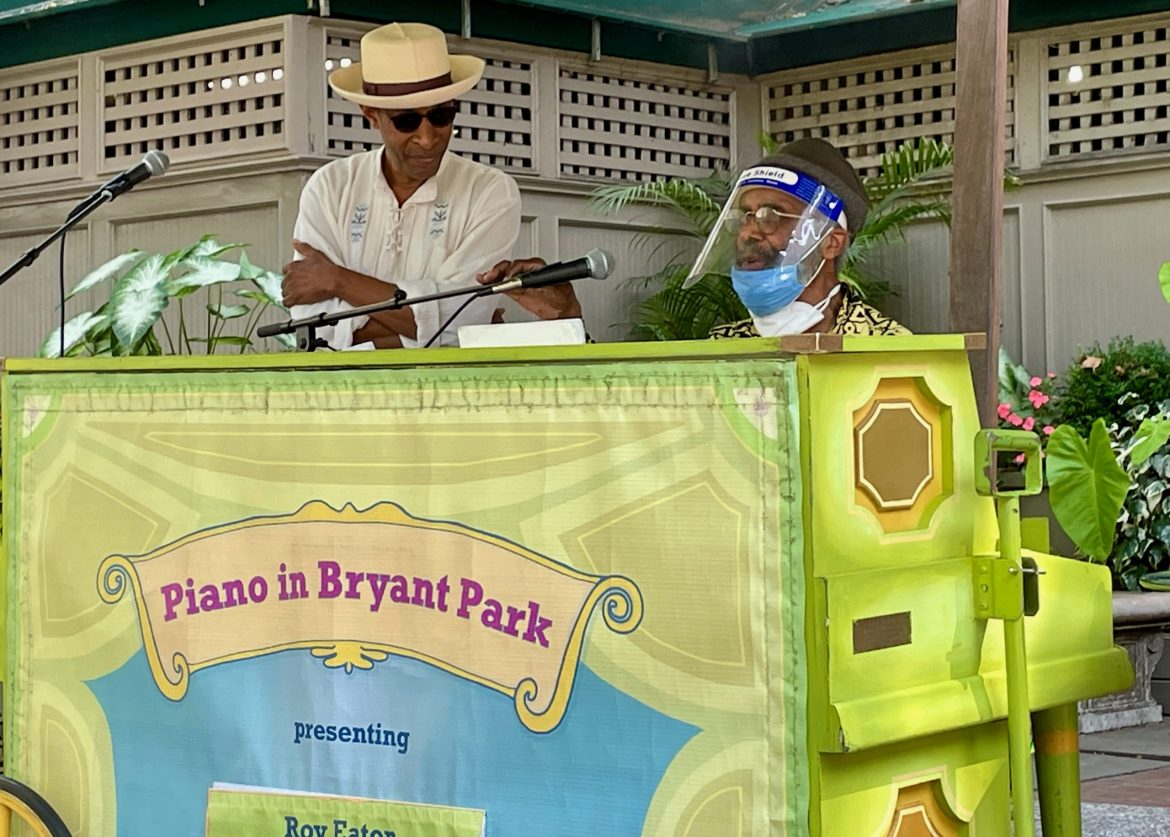 AT 92, ROY EATON, A SPIRITUAL AND MUSICAL MASTER BLESSES BRYANT PARK