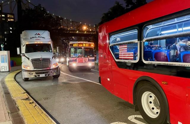Too Many Buses, Roosevelt Island Subway Station