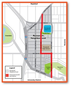 Newly proposed school boundaries in Roosevelt.