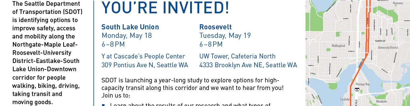 May Open House for Roosevelt to Downtown High-Capacity Transit Study