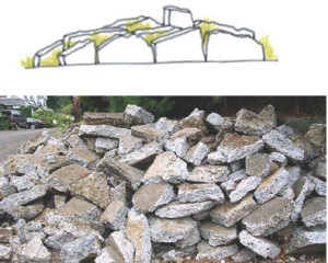 Meltwater drift materials - salvaged concrete