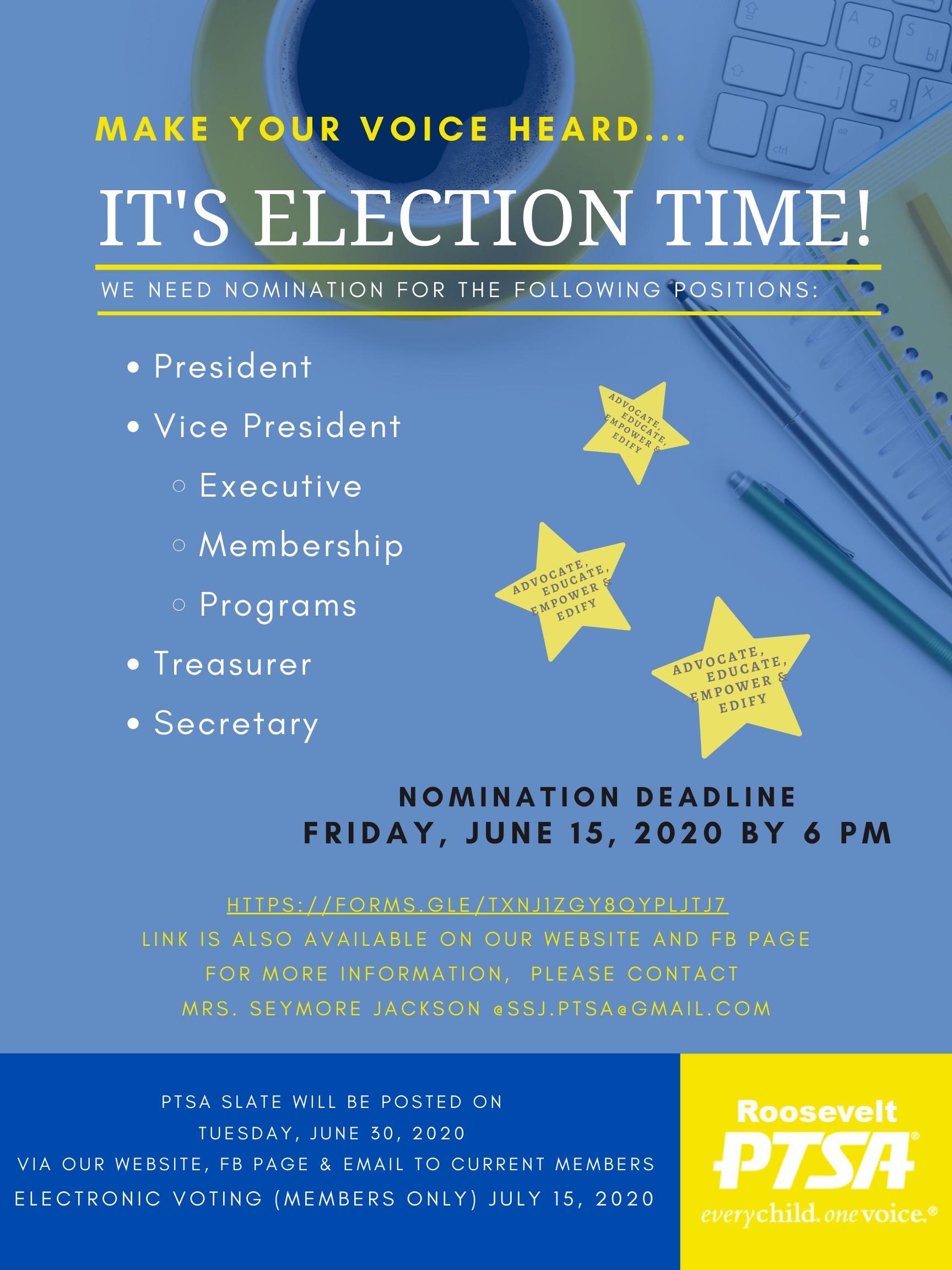 PTSA Election Time